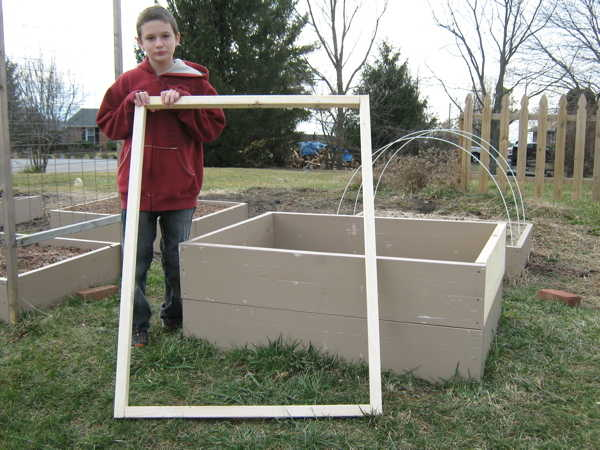 Frame for cover of cold frame