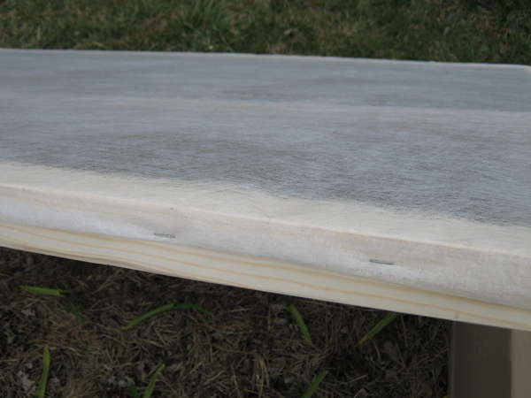 Stapled row cover for cold frame