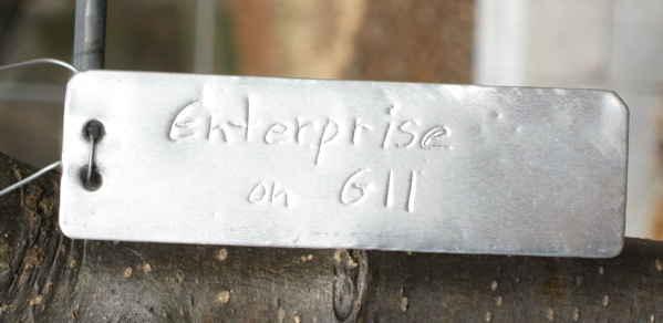 Metal plant label