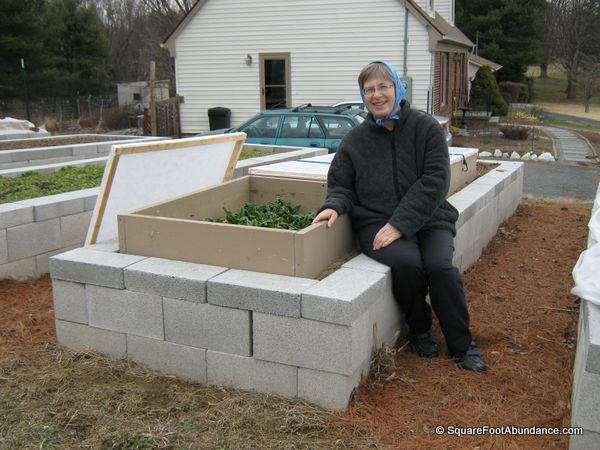 raised garden bed concrete blocks 1