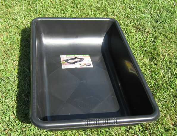 Concrete mixing tray to be used to create a garden container