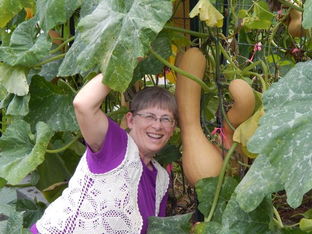Debra with huge squash